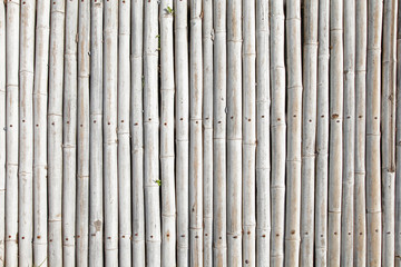 Background from old rustic bamboo fence