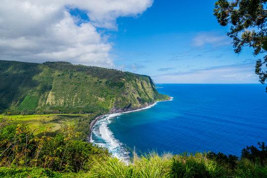 Hawaii stunning Waipio Valley and Pristine Beach Big island