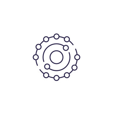 antioxidant icon in line design