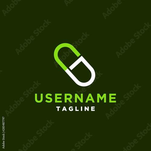 Letter G For Medicine Logo Design Template Tablet Pills