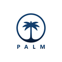 Palm Logo Template Design Vector, Emblem, Design Concept, Creative Symbol, Icon