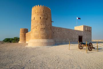 Entrance of Al Zubarah fort, Qatar Wall mural