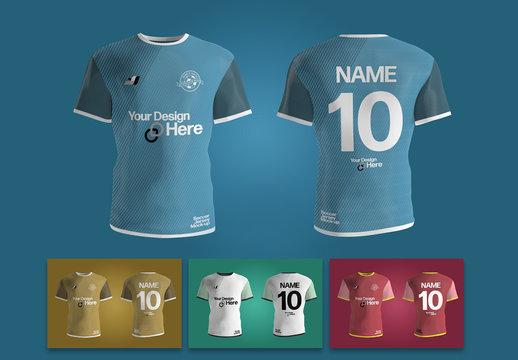 Soccer Jersey Uniform Mockup