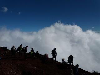 Top of Mount Fuji in Japan