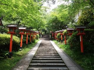 Trekking road between Kibune and Kurama, Kyoto Japan