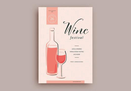 Wine Festival Flyer Layout