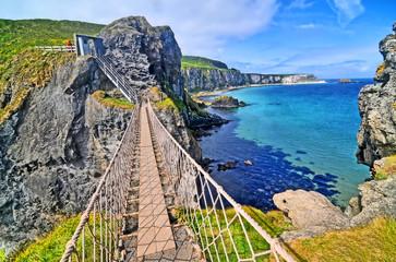 Carrick-a-Rede Rope Bridge  - rope bridge in , Northern Ireland.