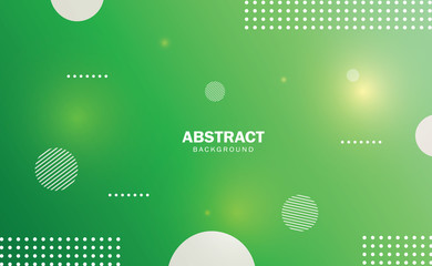 Abstract background green gradient with geometric shape.