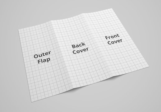 Back of Trifold Brochure Mockup