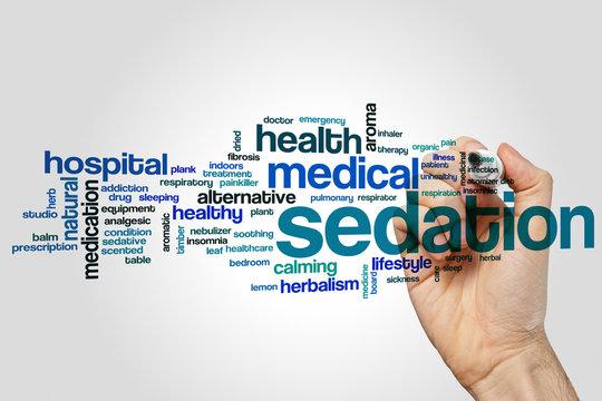Sedation word cloud