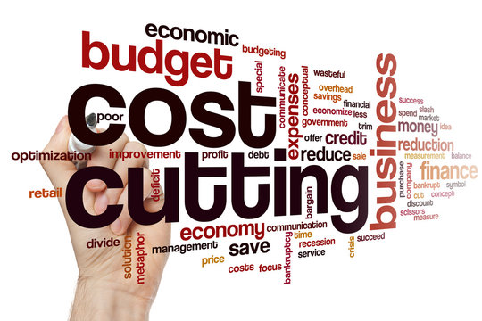 Cost cutting word cloud