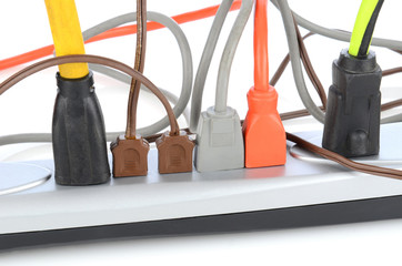 Power Strip With Electrical Cords