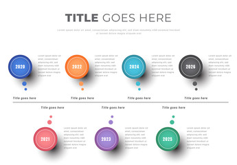 Info Chart Layout with Colorful Circles