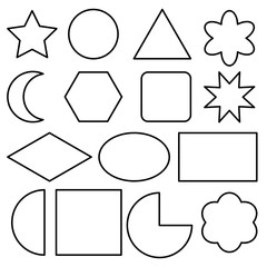 Doodle geometric shape vector icon with black line