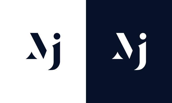 Abstract letter MJ logo. This logo icon incorporate with abstract shape in the creative way.