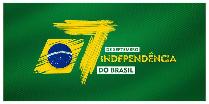 7 de setembro, independencia do brasil, (translation : 7  September, Independence Day of Brazil), Billboard, Poster, Social Media, Greeting Card template vector Illustration