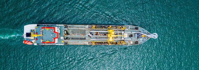 Oil Tanker ship in sea Singapore