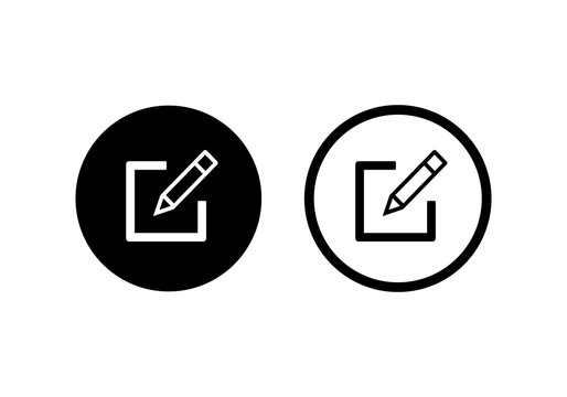 Edit icon, Pencil icon, sign up Icon vector. symbol for web site Computer and mobile.