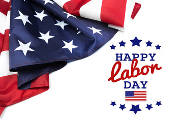 Happy Labor day banner, american patriotic background - Image