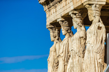 Tuinposter Athene The Parthenon in Athens - Erechtheion