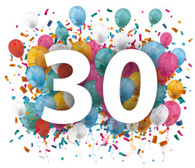 30 Balloons Confetti