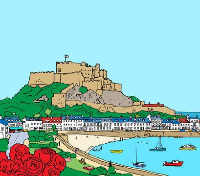 Mont Orgueil Castle & Gory Harbour