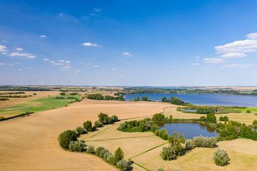 Aussicht auf den Uckersee und die Landschaft der Uckermark Fotoväggar