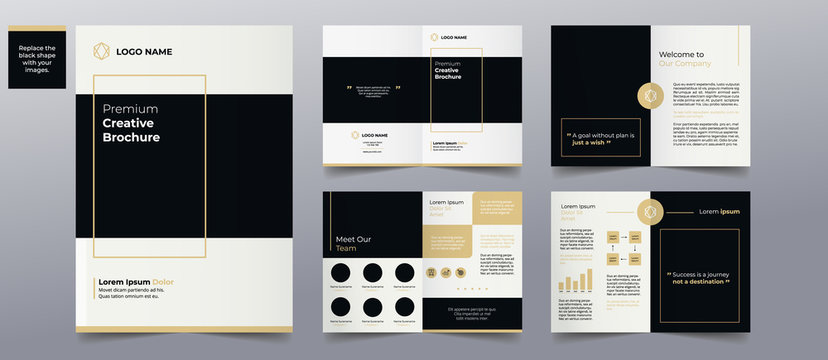 modern simple brochure pages templates