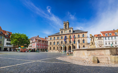 Marktplatz and Rathaus of Weimar