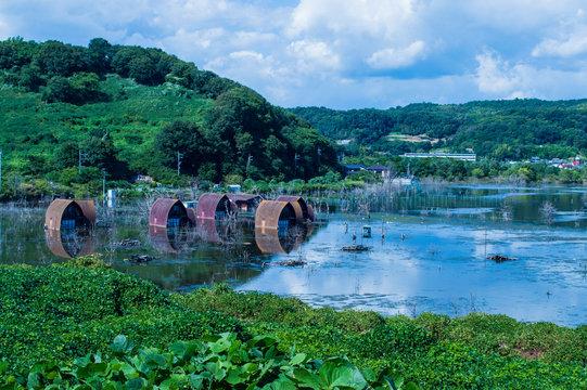【岡山県】牛窓にある水没廃墟 Gファーム / 【Okayama】Submerged ruins in Ushimado G-farm