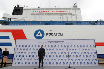 Russia's floating nuclear power plant Akademik Lomonosov leaves Murmansk