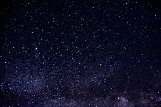 milky way galaxy with starry night sky  as background