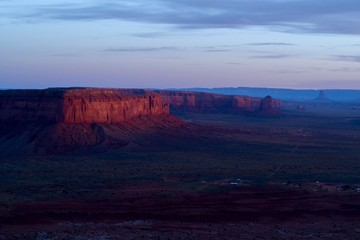 Red Mesa at Sunset
