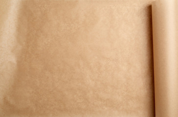 expanded brown paper roll, full frame