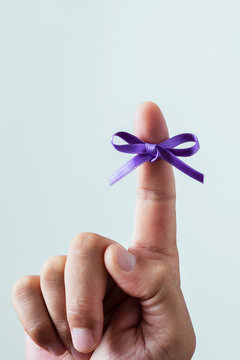 purple ribbon for the world alzheimers day.