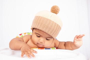 Cute little asian baby boy