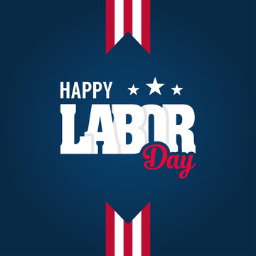 Happy Labor Day Banner Design Template. Vector illustration