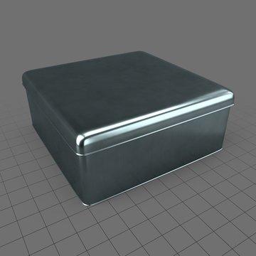 Square tin