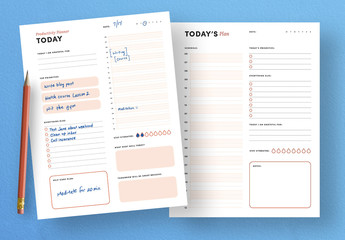 Daily Productivity Planner To Do List Layout