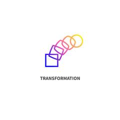 Change icon, transformation, evolution, development