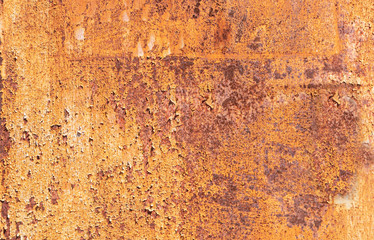 Metal rusty background texture. Heavy industrial steel plate corroded and peeled