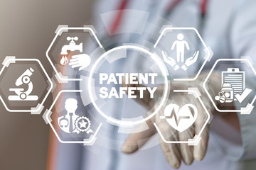 Patient Safety Health Care concept. Wall mural