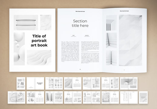 Black and White Book Layout