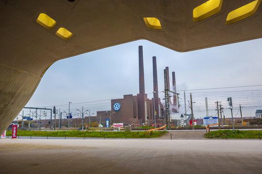 Cityscape of Wolfsburg town