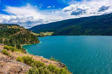 View of Kalamalka Lake from Kalamalka Lake Provincial Park near Vernon British Columbia Canada Wall mural
