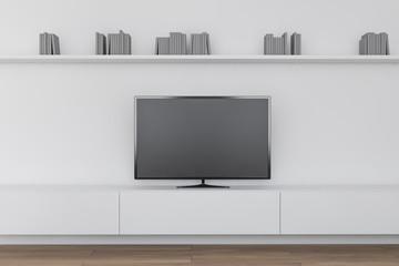 Modern living room interior with TV set