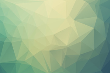 Soft green Low poly crystal background. Polygon design pattern. soft green Low poly vector illustration, low polygon background.