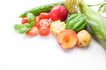 summer vegetables and fruits