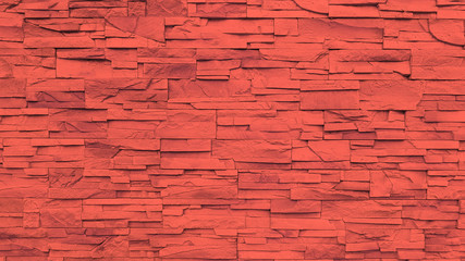 Red sandstone wall texture and background.