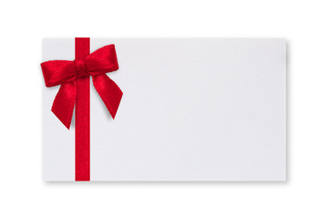 Paper Card & Red Bow